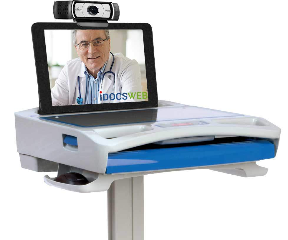 Telemedicine Cart - Laptop Powered